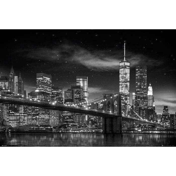 Poster de new york tour de la libert achat vente affiche cdiscount - Achat maison new york ...