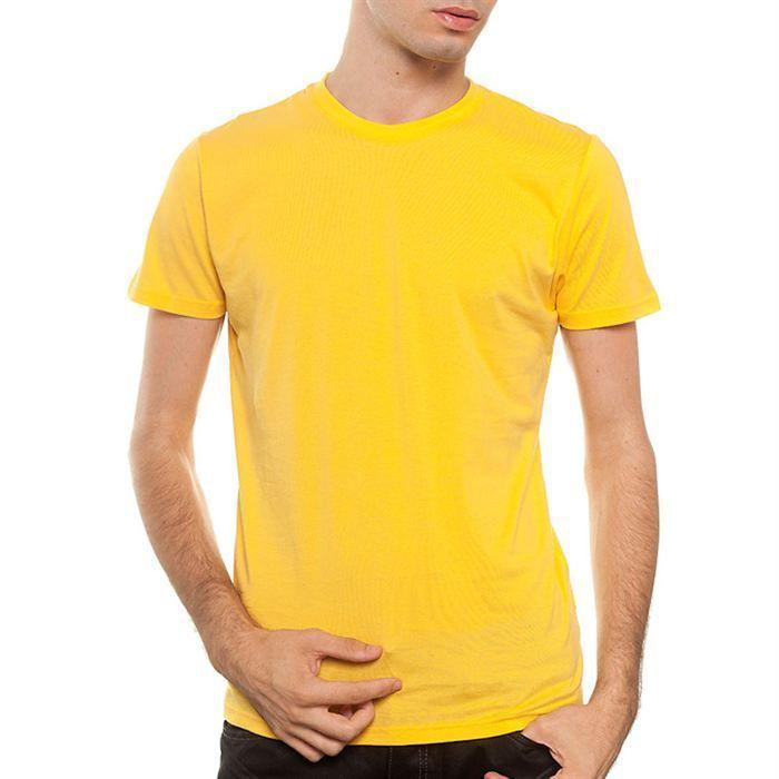 now t shirt m00200 homme jaune jaune jaune achat vente t shirt cdiscount
