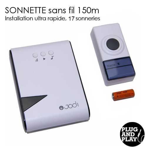 jod1 carillon sonnette sans fil 150m autonome achat vente sonnette carillon cdiscount. Black Bedroom Furniture Sets. Home Design Ideas