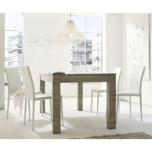 Table a manger chene gris achat vente table a manger for Table salle a manger gris