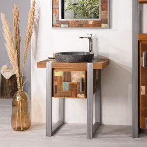 Meuble salle de bain 70 cm achat vente meuble salle de - Meuble salle de bain ancien en bois ...
