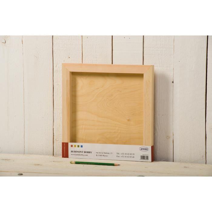artemio cadre ch ssis carr en bois 30 cm achat vente. Black Bedroom Furniture Sets. Home Design Ideas