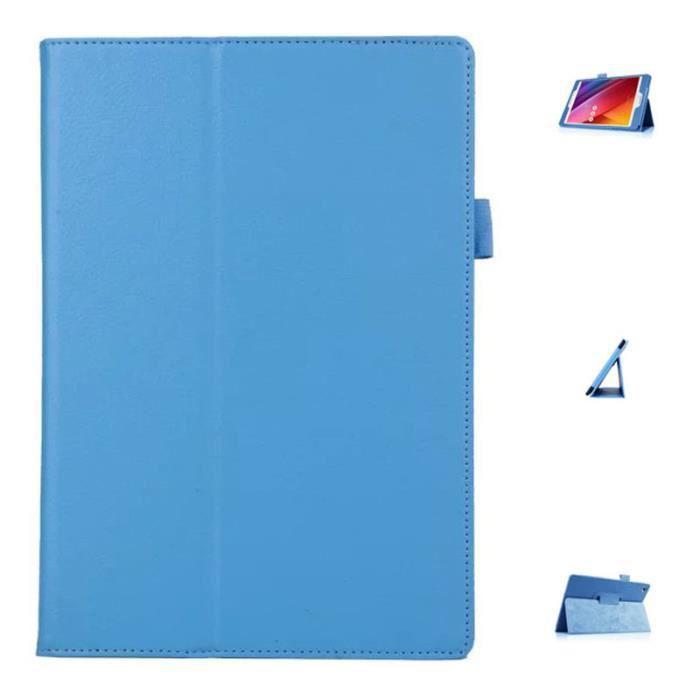informatique accessoires tablettes tactiles bleu clair etui housse pour asus memo pad fhd  m f auc