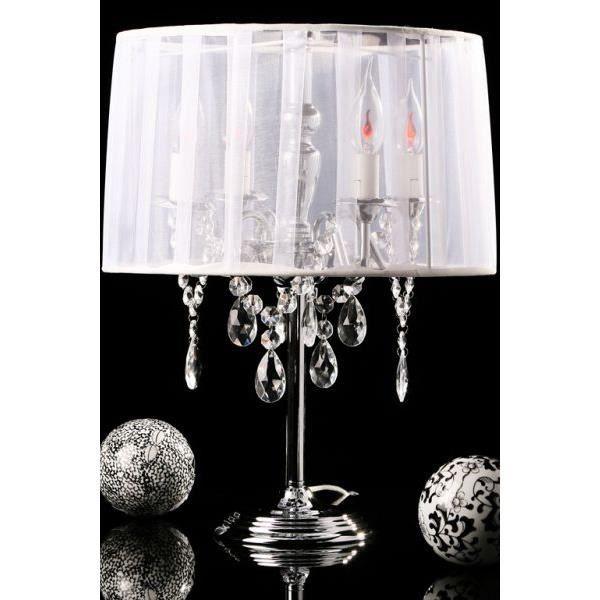 Lampe de table en textile de couleur blanche tl000 achat for Lampe de table blanche