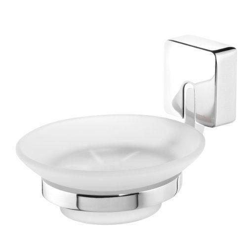 Tiger 38553 03 impuls porte savon en acier inoxydable et verre d poli achat vente for Porte savon en verre