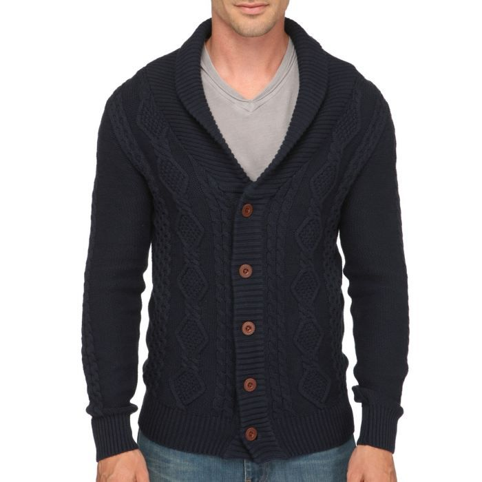 Long Cardigan Homme Red Soul Cardigan Homme Marine