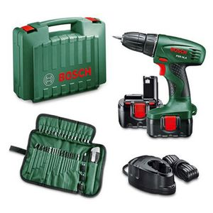 PERCEUSE BOSCH Perceuse sans fil PSR14,4 + 2 batteries + 39