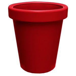 Pot de fleur exterieur rouge achat vente pot de fleur for Pot exterieur rouge
