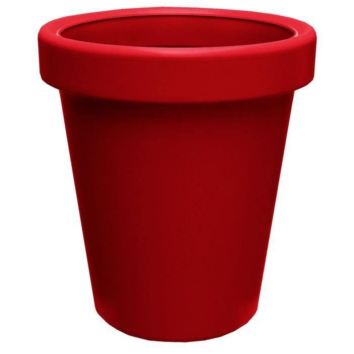 pot liss a 40 rouge achat vente jardini re pot fleur. Black Bedroom Furniture Sets. Home Design Ideas