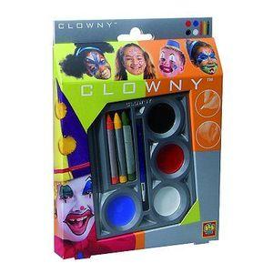 SES CREATIVE AQUA Kit de maquillage déguisement clown 7 couleurs