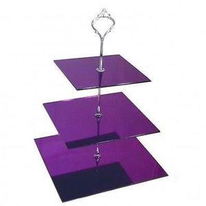 Carre trois niveaux miroir violet stand g teau achat for Miroir acrylique incassable