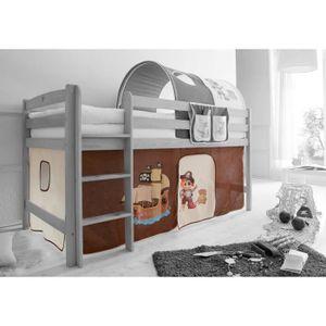 rideaux pour lit superpose achat vente rideaux pour lit superpose pas cher cdiscount. Black Bedroom Furniture Sets. Home Design Ideas