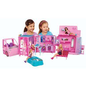 POUPÉE Barbie - Camping Car Equestre Barbie