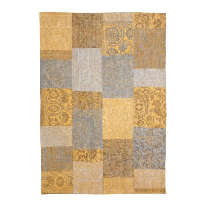 Tapis Moutarde 280 X 200 Cm Patchwork Achat Vente Tapis Cdiscount