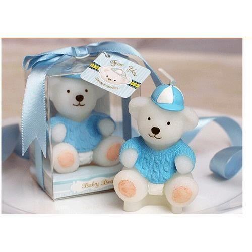 10 bougies nounours bapteme bleu deco table achat for Decoration bapteme bleu