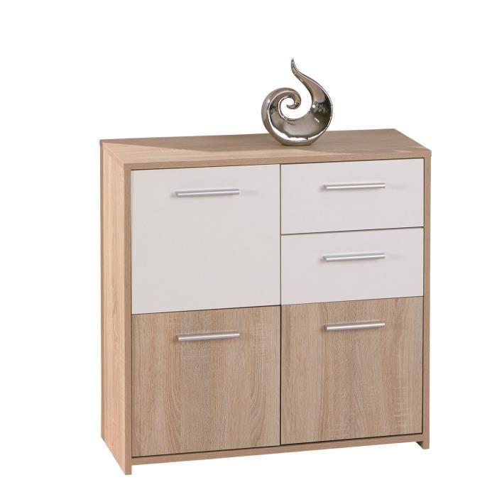List meuble 3 portes 2 tiroirs couleur ch ne achat for Meuble 3 portes occasion