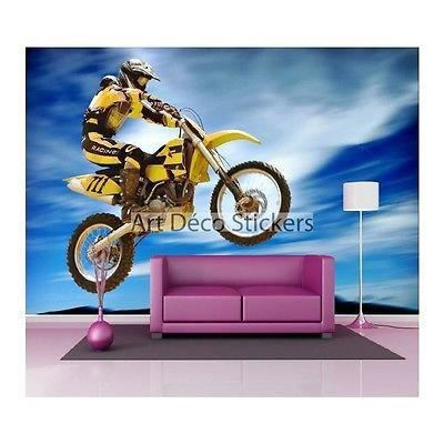 Stickers muraux g ant d co moto 1493 dimensions - Stickers muraux geant ...