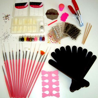 kit nail art faux ongles complet pinceaux stickers achat vente faux ongles kit nail art faux. Black Bedroom Furniture Sets. Home Design Ideas