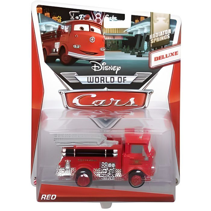 Voiture disney cars deluxe camion pompier red v hicule - Camion pompier cars ...