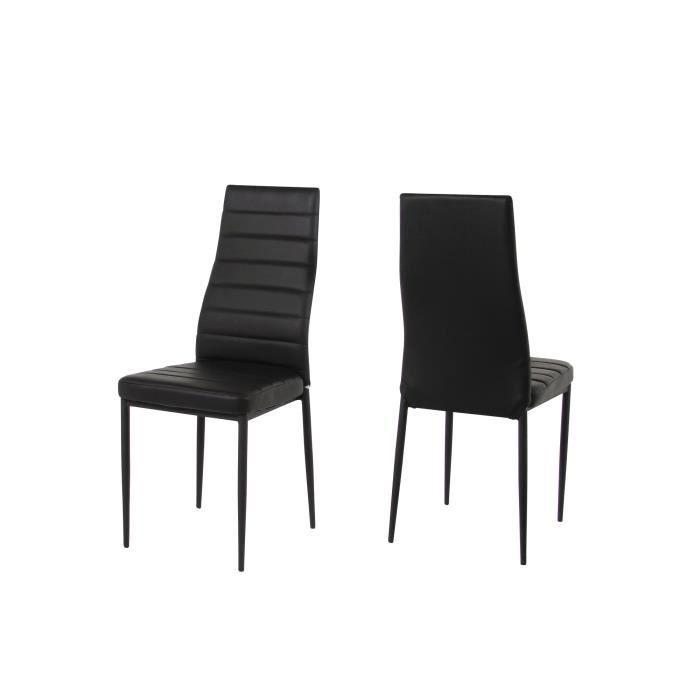 Lot de 4 chaises salle manger beta en simili achat for Lot 4 chaises salle manger