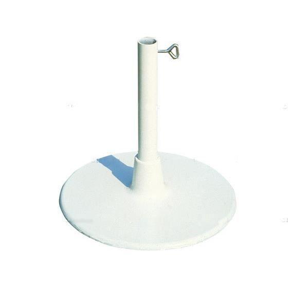pied de parasols rond avec socle extra plat invicta. Black Bedroom Furniture Sets. Home Design Ideas