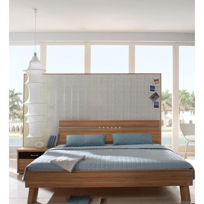 lit adulte ambre achat vente structure de lit lit adulte ambre cdiscount. Black Bedroom Furniture Sets. Home Design Ideas