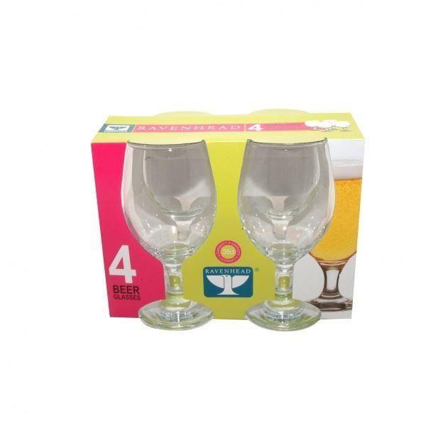 lot de 4 verres bi re 38cl verres alcool pour bar achat vente verre bi re cidre. Black Bedroom Furniture Sets. Home Design Ideas