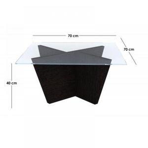 OLIVE petite table basse wengé design bois plat…