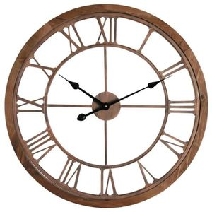 horloge murale bois et metal achat vente horloge murale bois et metal pas cher soldes. Black Bedroom Furniture Sets. Home Design Ideas