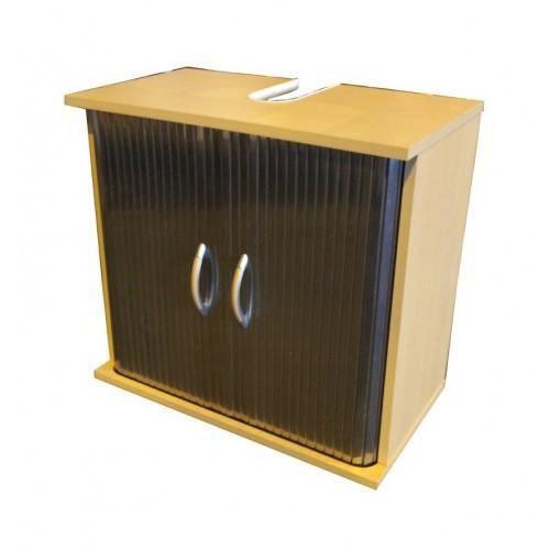 Meuble sous lavabo portes rideaux simple mais indispensable ce meuble se g - Rangement sous lavabo ...