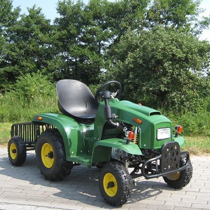 Tracteur pour enfant 110 cc avec remorque vert achat vente tracteur chantier cdiscount - Tracteur remorque enfant ...