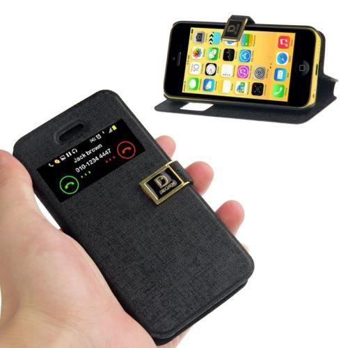 Housse pochette pour iphone 5 5s noir achat housse for Housse et pochette