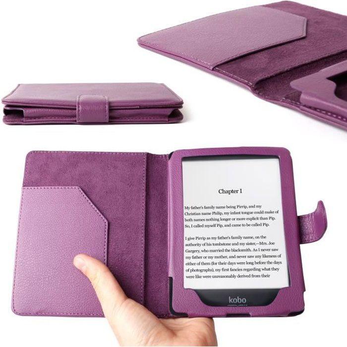 etui violet sur mesure pour liseuse kobo glo 6 prix pas cher cdiscount. Black Bedroom Furniture Sets. Home Design Ideas