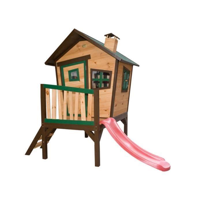 Cabane enfant bois robin x x m achat for Cabane bois exterieur