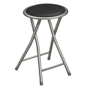 tabouret pliant gris achat vente tabouret pliant gris pas cher cdiscount. Black Bedroom Furniture Sets. Home Design Ideas