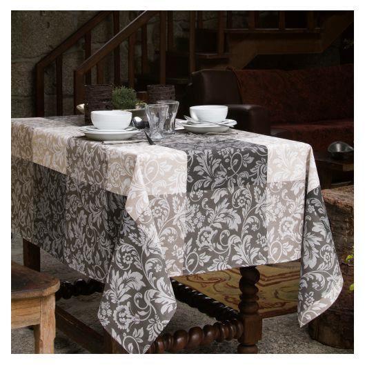 nappe enduite grise mikonos 150x250 achat vente nappe de table cdiscount. Black Bedroom Furniture Sets. Home Design Ideas