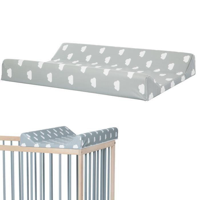 plan a langer pour lit bebe 120x60 nuage gris gris. Black Bedroom Furniture Sets. Home Design Ideas