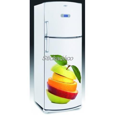 sticker frigidaire frigo fruit achat vente stickers vinyl cdiscount. Black Bedroom Furniture Sets. Home Design Ideas
