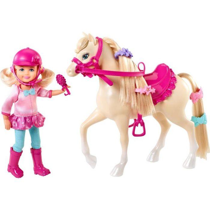 POUPÉE BARBIE Chelsea et son poney