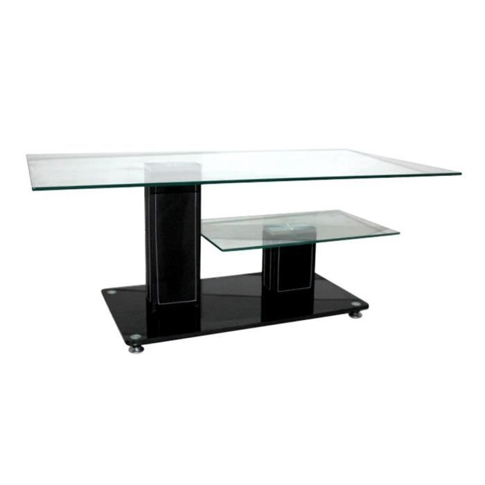 Table basse willou noire achat vente table basse table - Table basse c discount ...