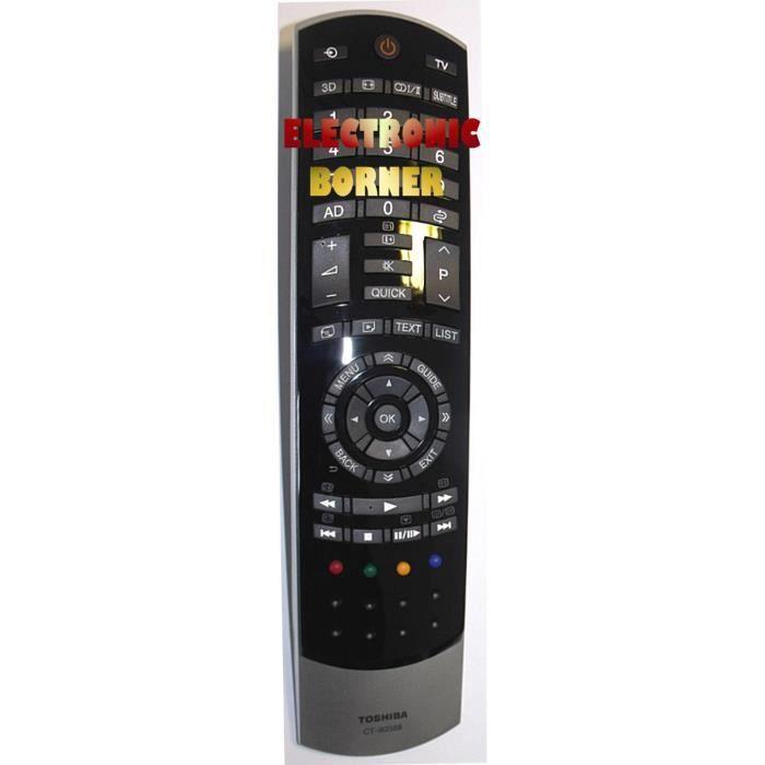 t l commande d 39 origine toshiba ct 90388 t l commande tv avis et prix pas cher cdiscount. Black Bedroom Furniture Sets. Home Design Ideas