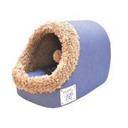 CORBEILLE - COUSSIN VADIGRAN Igloo pour chien Indy jeans/peluche brun