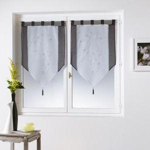 rideaux 45 x 160 achat vente rideaux 45 x 160 pas cher cdiscount. Black Bedroom Furniture Sets. Home Design Ideas