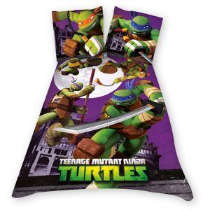 Housse de couette tortues ninja 100 coton 1 achat vente parure de couette cdiscount - Le nom des tortue ninja ...