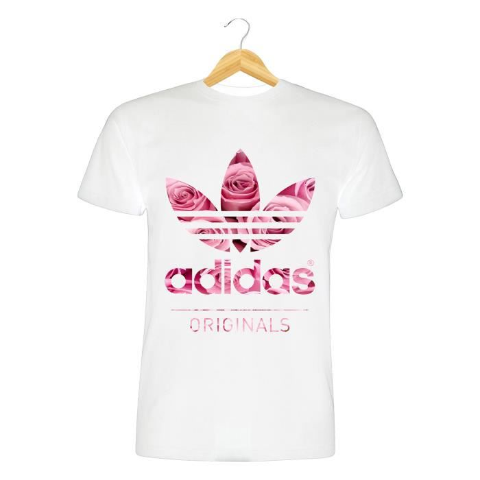 t shirt taille xl homme femme mixte adidas originals roses fleurs flowers swag sport achat. Black Bedroom Furniture Sets. Home Design Ideas
