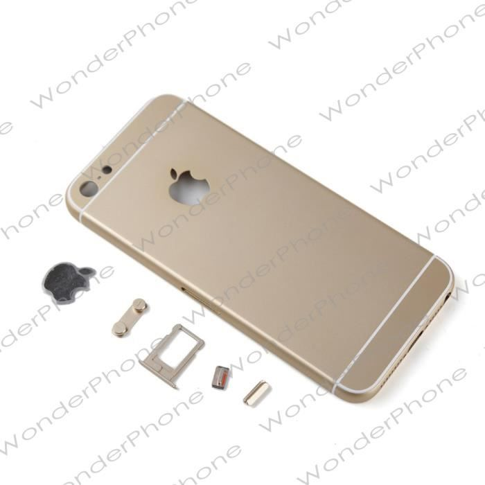 rare coque ch ssis arri re nue couleur gold champagne blanc pour iphone 5 style iphone 6. Black Bedroom Furniture Sets. Home Design Ideas