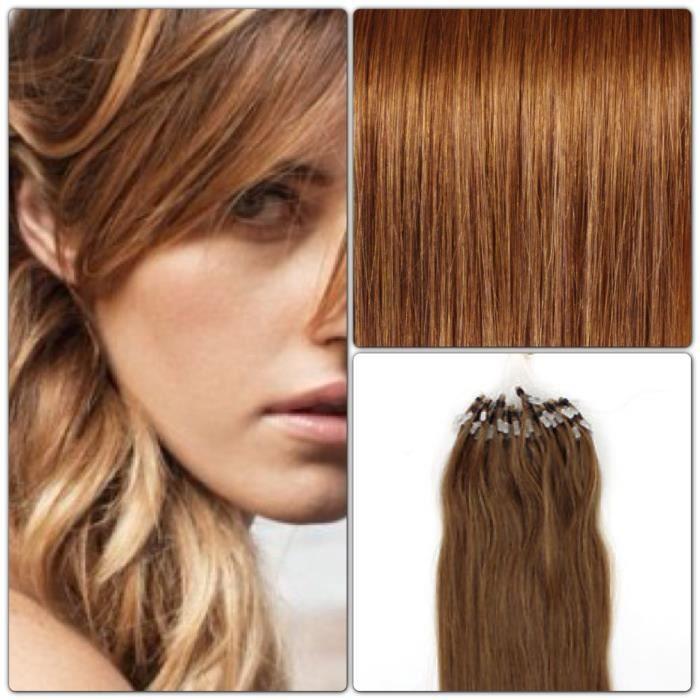 50 extensions de cheveux pose a froid loop 50cm achat vente perruque postiche 50. Black Bedroom Furniture Sets. Home Design Ideas