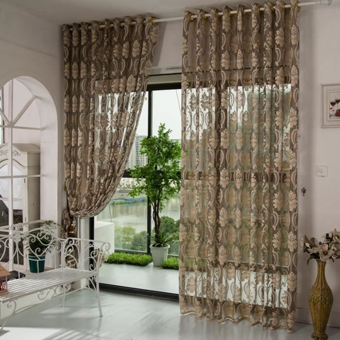 1pc 150cmx270cm rideaux de la chambre cuisine rideaux pour le salon tringle - Maison coloree rideaux ...