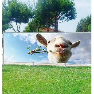 Brise vue d co personnalis mouton r f 3686 occultation 80 dimensions 180x70cm achat - Deco jardin mouton toulon ...