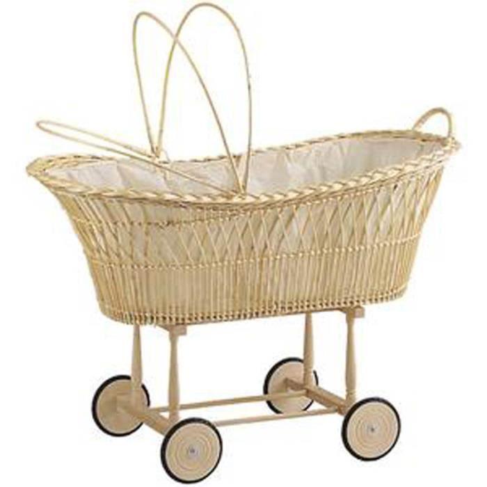 Berceau en osier blanc pour enfants achat vente berceau et support bercea - Cdiscount berceau bebe ...